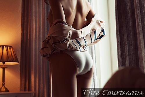 A very pert bottom in white panties!